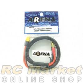 ARENA CAB-C09 Li-Po 2 Cell Balance Chg Cable (XT60 To 5mm Plug 380mm)