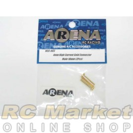 ARENA HCC-003 4mm High Current Gold Connector Male 18mm (2pcs)