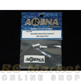 ARENA 4mm High Current Silver Connector Male 14mm (2pcs)