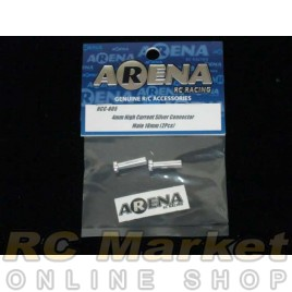 ARENA 4mm High Current Silver Connector Male 18mm (2pcs)