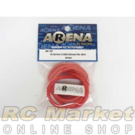 ARENA SW-12R Hi Current 12 AWG Silicone Flex. Wire 1m Red