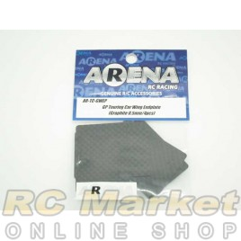 ARENA TC-GWEP GP Touring Car Wing Endplate (Graphite 0.5mm/4pcs)