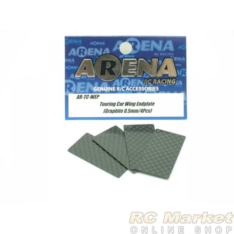 ARENA TC-WEP EP Touring Car Wing Endplate (Graphite 0.5mm/4pcs)
