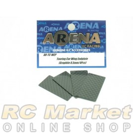 ARENA EP Touring Car Wing Endplate (Graphite 0.5mm/4pcs)