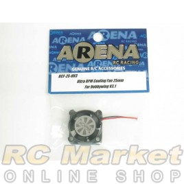 ARENA UCF-25-HV3 Ultra RPM Cooling Fan 25mm For Hobbywing V3.1 & XR10 Pro/G2