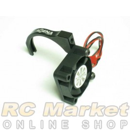 ARENA Alum. Cooling Fan Motor Mount Black W/30mm Hi-Cooling Fan
