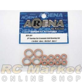 ARENA EP Touring Car Economic Ball Bearing Set ( 5X10X4-8pcs , 10X15X4-4pcs)