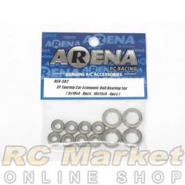 ARENA BER-S02 EP Touring Car Economic Ball Bearing Set (Metalseal) ( 5X10X4-8pcs , 10X15X4-4pcs)