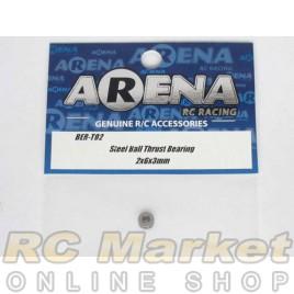 ARENA BER-T02 Steel Ball Thrust Bearing 2X6X3mm