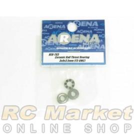 ARENA BER-T03 Ceramic Ball Thrust Bearing 3X8X3.5mm (F3-8MC)