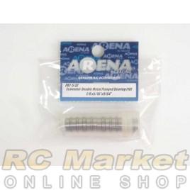 "ARENA FR2-5/ZZ 1/8'X5/16""X9/64"" Economic Double Metal Flanged Bearing (10)"