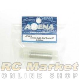 ARENA MR106/ZZ 6X10X3mm Economic Double Metal Bearing (10)