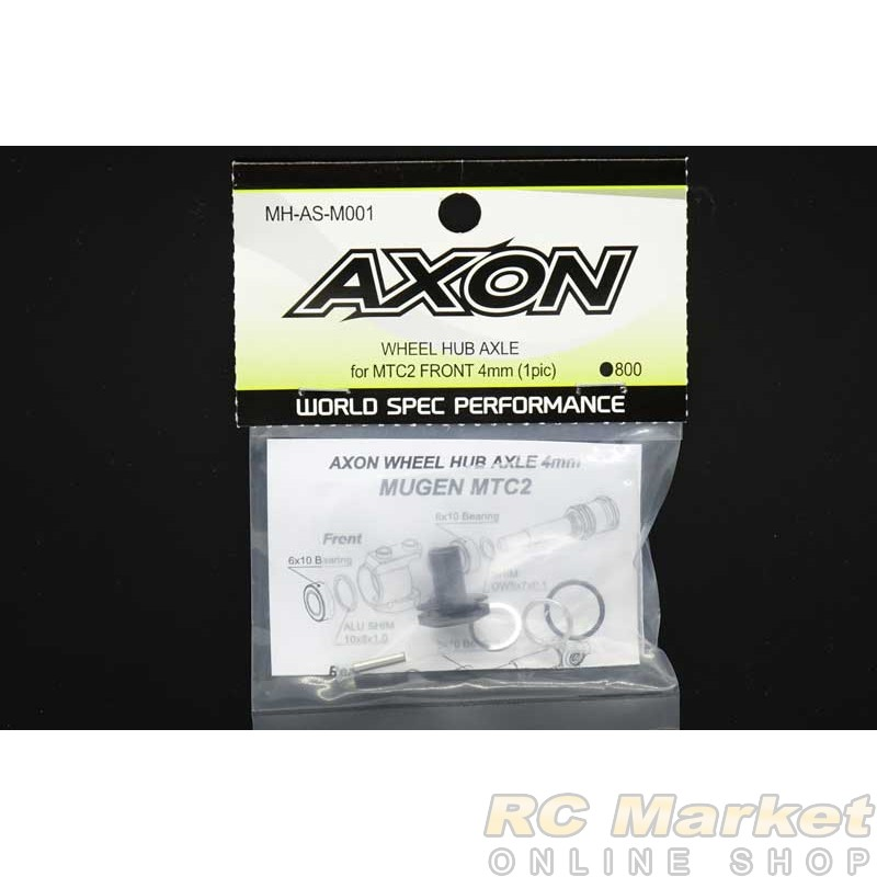 AXON MH-AS-M001 Wheel Hub Axle for MTC2 Front 4mm (1pic)