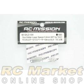 RC MISSION MI-SHLS-X04 Sus Holder Lower Spacer 0.4mm Set for T4'21