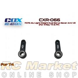 RC COX CXR-066 7075 Alu Light Weight Dual Servo Saver Arm V2 (For Xray T4 & FF)