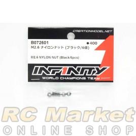 INFINITY B072601 M2.6 Nylon Nut (Black/6pcs)