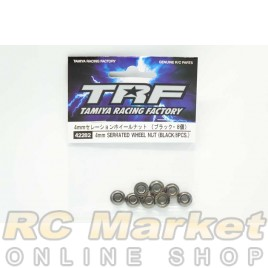 TAMIYA 42282 4mm Serrated Wheel Nut (Black / 8pcs)