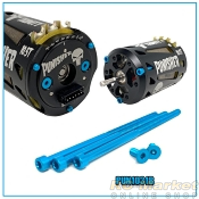 TRINITY PUN1031B Punisher Aluminum Screws Blue (5)