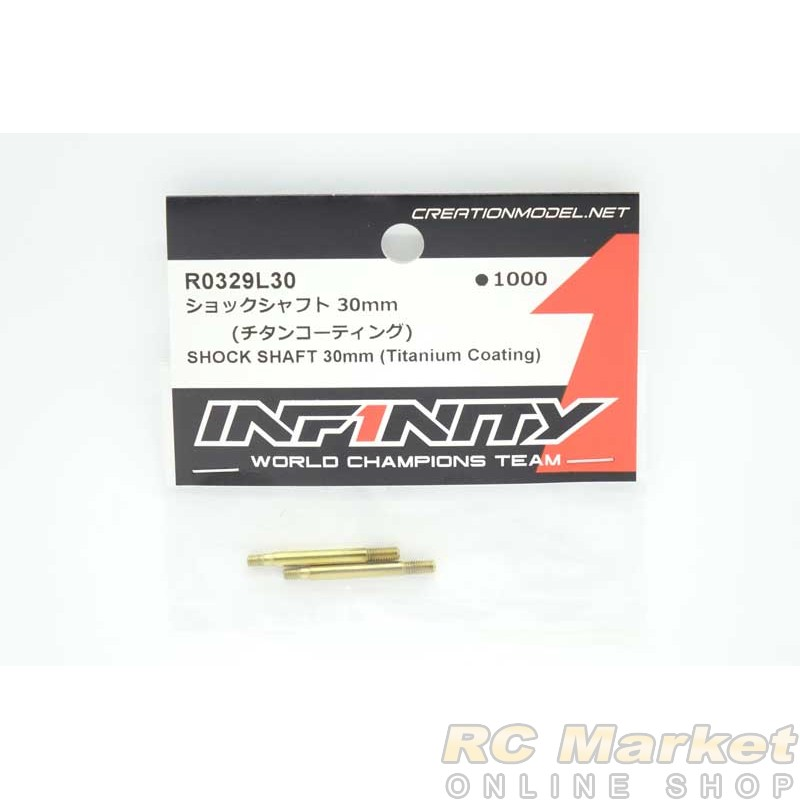 INFINITY R0329L30 IF18 Shock Shaft 30mm (Titanium Coating)