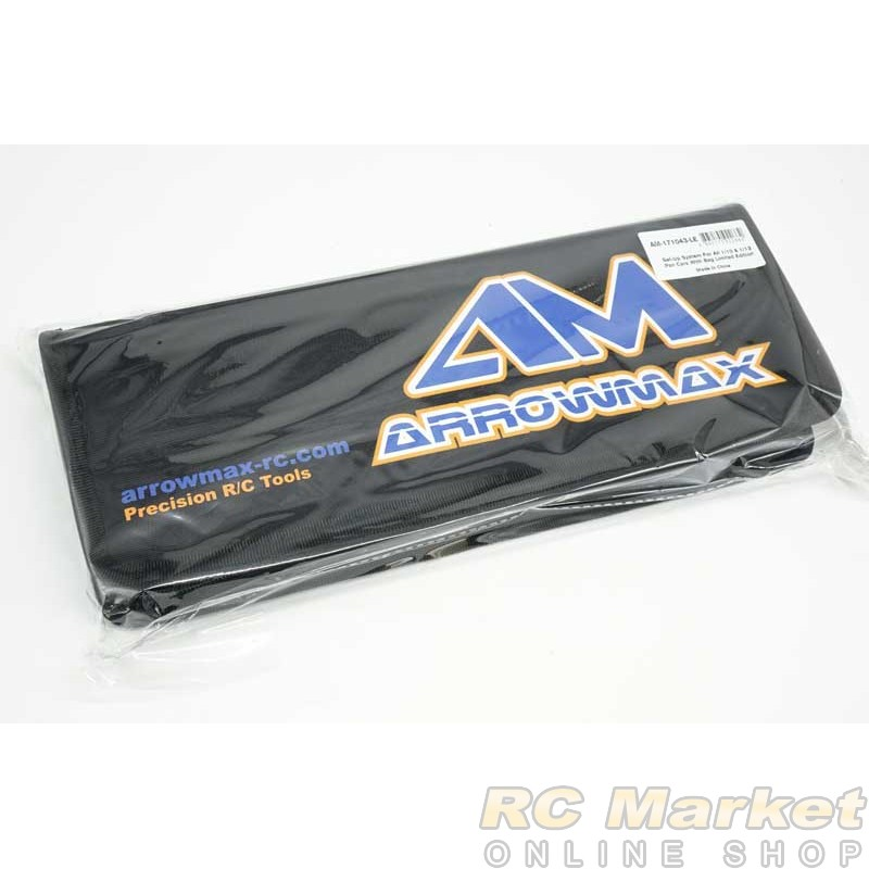 ARROWMAX 171043-LE Set-Up System For All 1/10 & 1/12 Pan Cars With Bag Limited Edition