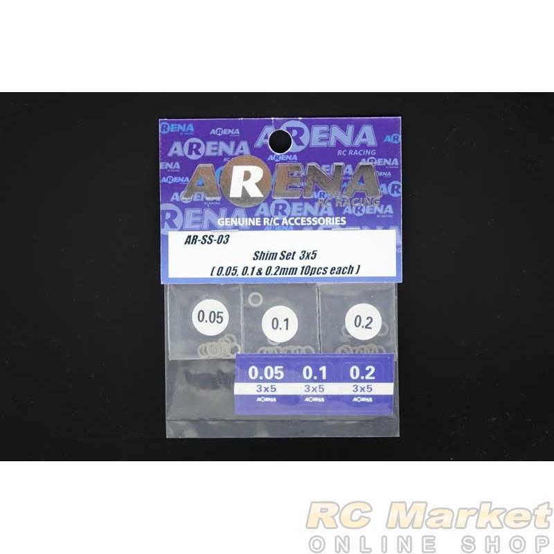 ARENA SS-03 Shim Set 3x5 (0.05, 0.1 & 0.2mm 10pcs each)