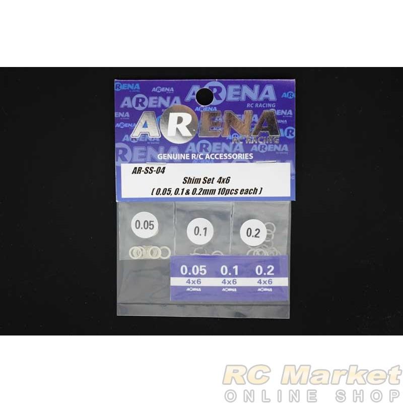 ARENA SS-04 Shim Set 4x6 (0.05, 0.1 & 0.2mm 10pcs each)