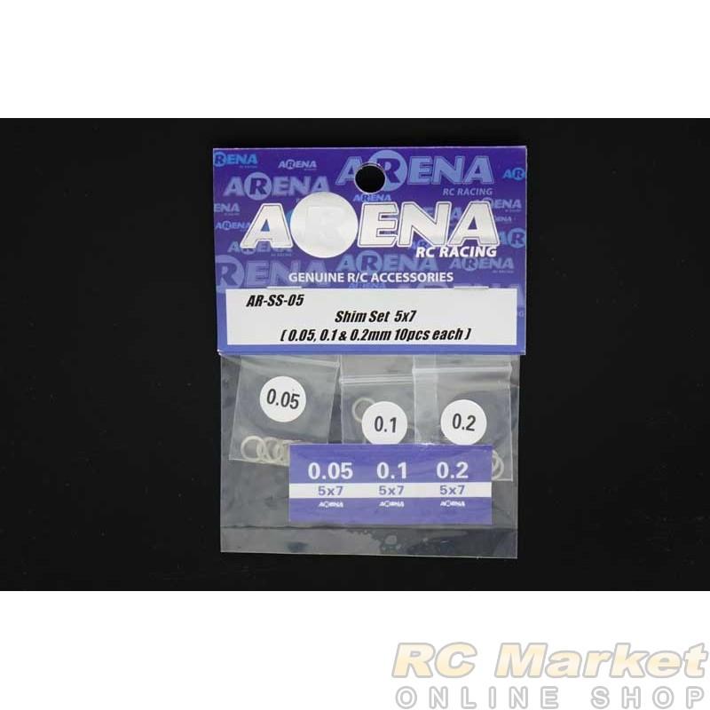 ARENA SS-05 Shim Set 5x7 (0.05, 0.1 & 0.2mm 10pcs each)