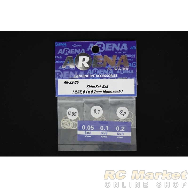 ARENA SS-06 Shim Set 6x8 (0.05, 0.1 & 0.2mm 10pcs each)