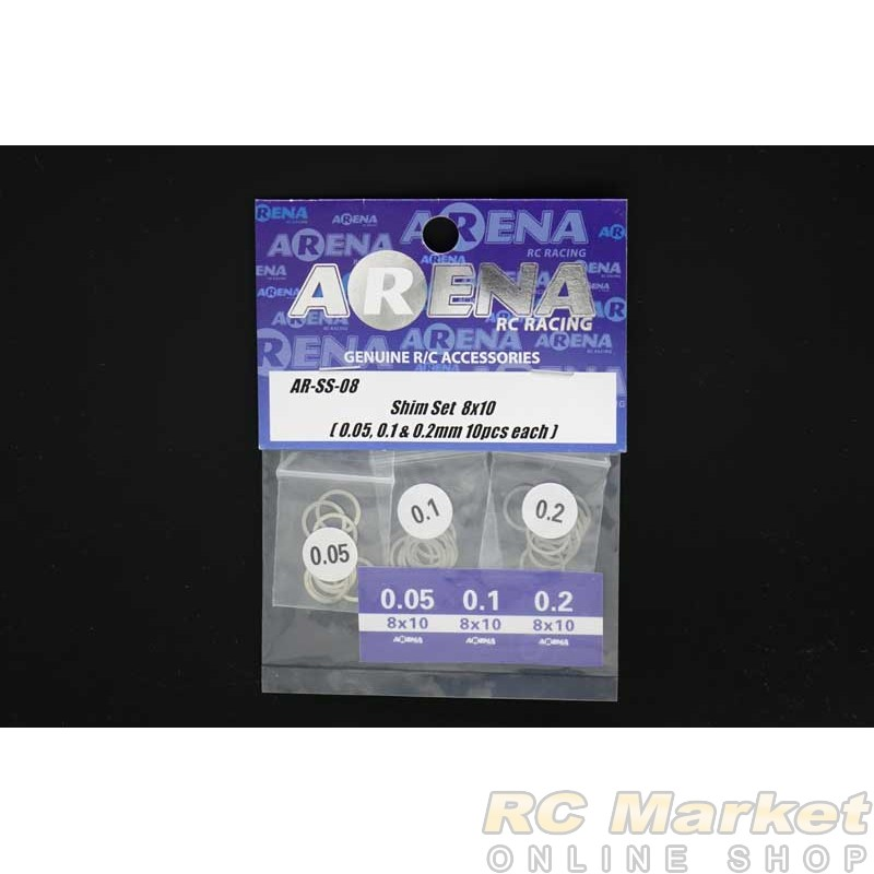 ARENA SS-08 Shim Set 8x10 (0.05, 0.1 & 0.2mm 10pcs each)