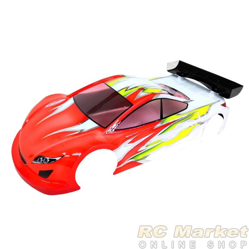 XCEED 104120 CR800 1/10 EP Touring Car Body 0.5mm w/Window Masking, Light Decal and Rear Wing