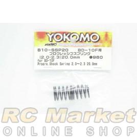 YOKOMO B10-SSP20 Progressive Shock Spring (2.0-2.3/20.0mm) for BD10F