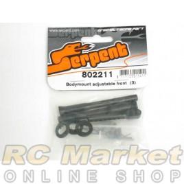SERPENT 802211 Bodymount Adjustable Front  (3)