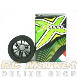Xceed ITA-Tyre-Rim 12EP RR Medium SH 30 (Black Rim)