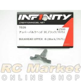 INFINITY T026 IF14 Bulkhead Upper - B (Black/7075)