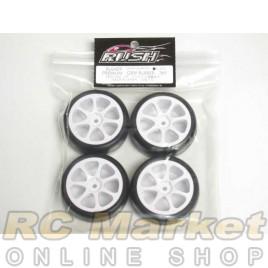 RUSH Premium Grip Rubber Preglued Wheel Set W/7 Spoke Rim 36X