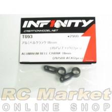 INFINITY T093 IF14 Alu Bellcrank 18mm (7075/Black/2pcs)