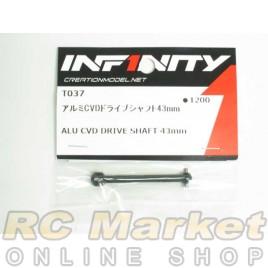 INFINITY T037 IF14 Alu CVD Drive Shaft 43mm