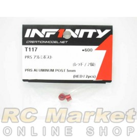 INFINITY IF14 PRS Alu Post 5mm (Red/2pcs)