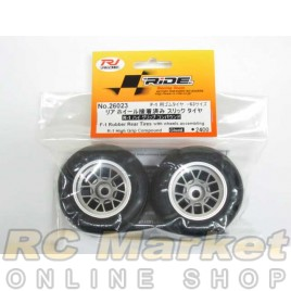 RIDE 26023 F1 Rubber Rear Tires W/ Wheels Assembling R-1 Hi-Grip Compound Glued