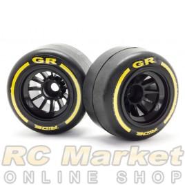 RIDE 26042 F1 Rubber Tires Rear Pre-Glued ( Type GR )
