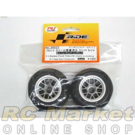 RIDE 26022 F1 Rubber Front Tires W/ Wheels Assembling R-1 Hi-Grip Compound Glued