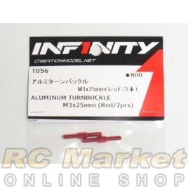 INFINITY T056 IF14 Alu Turnbuckle M3x25mm (Red/2pcs)