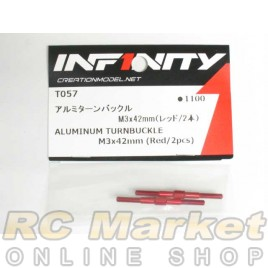 INFINITY T057 IF14 Alu Turnbuckle M3x42mm (Red/2pcs)