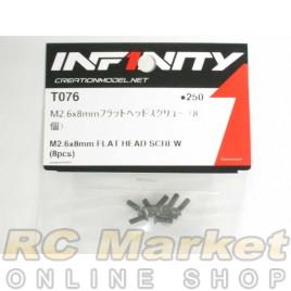 INFINITY IF14 M2.6X8mm Flat Head Screw (8pcs)