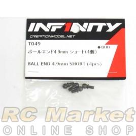 INFINITY IF14 Ball End 4.9mm Short (4pcs)