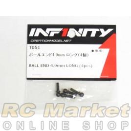 INFINITY IF14 Ball End 4.9mm Long (4pcs)