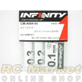 INFINITY CM-A004-05 5X7 Shim Set (0.1, 0.2, 0.3mm Each 10pcs)