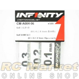 INFINITY CM-A004-06 6X8 Shim Set (0.1, 0.2, 0.3mm Each 10pcs)