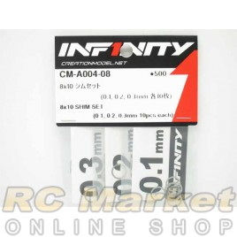 INFINITY 8X10 Shim Set (0.1, 0.2, 0.3mm Each 10pcs)