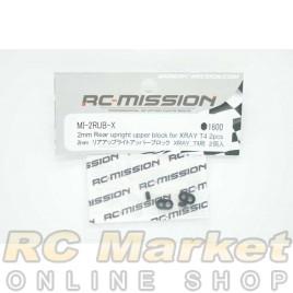 RC MISSION MI-2RUB-X 2mm Rear Uplight Upper Block for Xray T4 2pcs